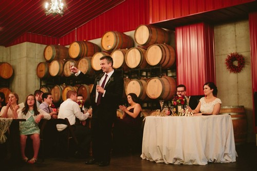 Wedding reception in Barrel Room