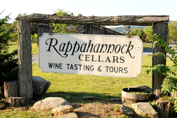 Rappahannock Cellars Front Sign