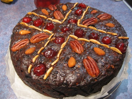 Port and Chocolate Christmas Cake
